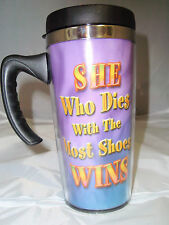Most Shoes' travel coffee/tea mug/cup cute funny acrylic stainless steelNib