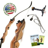 "KESHES TAKEDOWN 62"" ARCHERY RECURVE BOW 30 lb Left Handed"