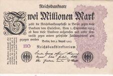 * Ro. 103d - 2 millones de Mark-Deutsches Reich - 1923-Fz: ho *