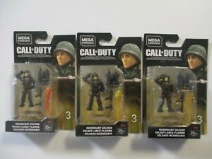 MEGA CONSTRUX CALL OF DUTY INCENDIARY SOLDIER WW2 X3 YELLOW ORANGE BRAND NEW !!!