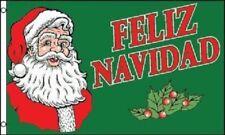 3x5 Feliz Navidad Flag Merry Christmas Banner Santa Claus Holiday Pennant 3'X5'