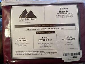 mayfair linen egyptian cotton sheet set King Size
