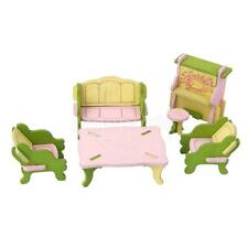 Colorful Dollhouse Miniature Living Room Set Wood Furniture Toy Kids Gift