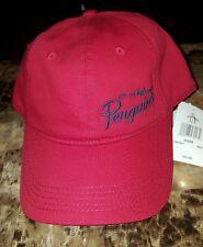 An Original Men's PENGUIN MUNSINGWEAR PN0301 RED BASEBALL CAP HAT ADJUSTABLE NWT