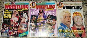 WRESTLING CLASSICS Magazine Lot of 3 Mar 1990 Jan + Summer 1992 WCW WWF WWE ECW