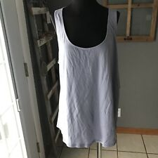 Gilligan & O'Malley NWT Lavender Cotton Modal Pajama Sleeveless Tank Top XXL