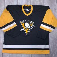 Vintage CCM Maska NHL Pittsburgh Penguins Hockey Jersey Mens XL Stitched LS120