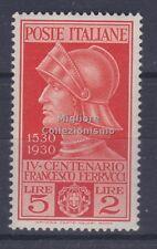 MC 1930 Regno Ferrucci 5+2 nuovo con gomma originale integra MNH**