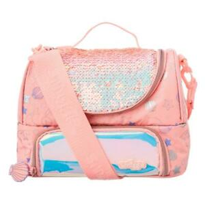 Smiggle Double Tier Lunchbox With Strap insulated school Girl unicorn lunch bag