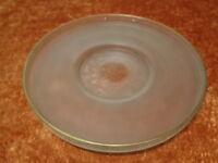 Grande Vetro Ciotola / di - Con Decorazione Dorata - Fatto a Mano - 31 CM -