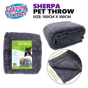 Sherpa Fleece Pet Throw Dog Cat Puppy Blanket Sofa Mat Bedding Cover Protector