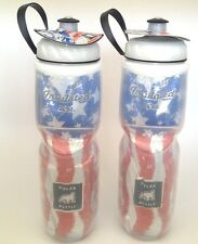 2 PACK POLAR INSULATED WATER BOTTLES 24 OZ OUNCE  USA FLAG PAIR BPA FREE NEW