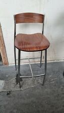 METAL & WOOD HIGH BAR STOOL BREAKFAST KITCHEN PUB BAR COLLECTION ONLY