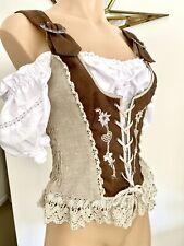 Bavarian Dirndl Dress Bodice Top - Size 34 (8-10) NWOT