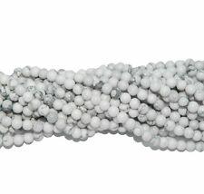 "10mm White Howlite Natural  Round Beads 40cm 15""  Stone"