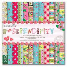 """Serendipity da Dovecraft 12""""x12"""" pacco da 36 fogli di carta"""