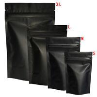 100pcs Matte Black Heat Selfseal Bags Resealable Zip Lock Packaging Bags Fy