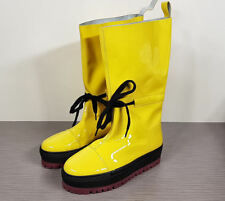 Marques' Almeida Yellow Leather platform Boot, Womens  Size 7 / 37