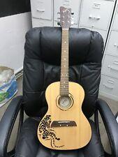 Guitar First Act-Parlor Size- Designer Acoustic Guitar Black Tiger- Mg323