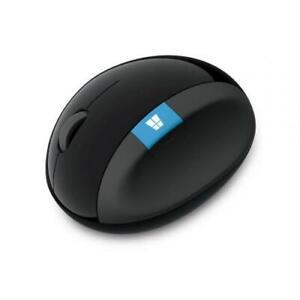 Microsoft Sculpt Ergonomic Mouse Black - Wireless - Radio Frequency - 2.40 GHz -
