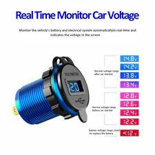 5-12V Car Charger Socket Dual USB Port  QC3.0 Volt Display Phone Fast Charging