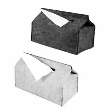 Felt Tissue Box Paper Napkin Holder Home Decoration Storage Case Office Bathroom