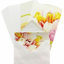 ARGOS GREETING CARD FLOWERS TULIPS GIFT BIRTHDAY CARDS PACK OF 25 WITH ENVELOPES
