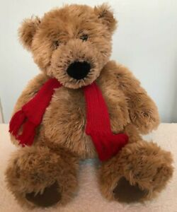 """Gund Radcliffe The Borders Bear 46595 15"""" Red Scarf Soft Toy"""