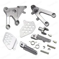 Silver Front Foot Pegs Bracket Fit For Honda CBR600RR 2003-2006 2004 2005 New