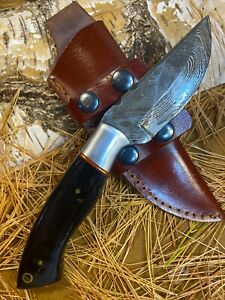 LOUIS MARTIN CUSTOM HANDMADE FIXED BLADE DAMASCUS FULL TANG HUNTER SKINNER KNIFE