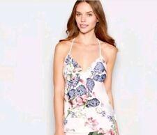 Ted Baker-Pink Floral 'Kensington' camisole vest / Pyjama top.UK 10