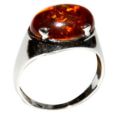 3.5g Authentic Baltic Amber 925 Sterling Silver Ring Jewelry N-A7038A