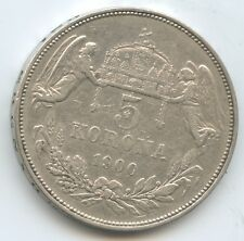 G0158 - Ungarn 5 Korona 1900 KB KM#488 Franz Joseph I. 1848-1916 Österreich
