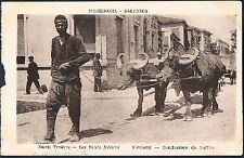 POSTCARD Macedonia Thessaloniki Small Traders The Cart Driver c1915 perf