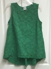 Cabi Size Small Sleeveless Eyelet Top - Hi-Low, Inverted Pleat in Back