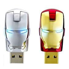4GB-64GB Avengers Iron Man Retract Metal USB Flash Pen Thumb Drive Memory Stick