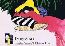 "PUBLICITE ADVERTISING 114 1979 CHRISTIAN DIOR ""Dioressence"" René Gruau (2 pages)"