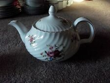 Coffee Tea Pot Adderley fine bone china England H1024 pink blue floral roses