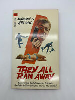 They All Ran Away Edward S Aarons 1970 Vintage Mystery PB Pin Up Sexy Spy 4K
