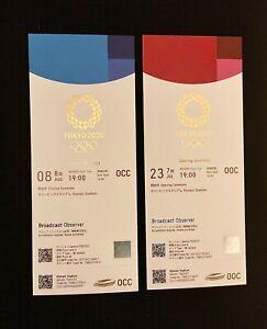 Tokyo 2020 Olympic  opening n closing ceremonies  ticket. MINT