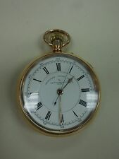 THOMAS RUSSELL & SONS CHRONOGRAPH CENTRE GOLD FILLED POCKET WATCH