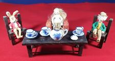 ALICE IN WONDERLAND ANTIQUE MINITURE MAD HATTERS TEA PARTY  C/a 1915