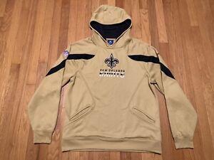 New Orleans Saints Reebok Gold Hoodie Pullover Men's Size Medium