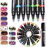 16 Colors Nail Art Pen Painting Design Drawing UV Gel Polish Manicure Tool Cool