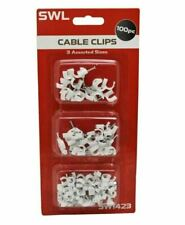 100x Adjustable Cable Tie Drop Clips Organizer Wire Management Cord Holder 03