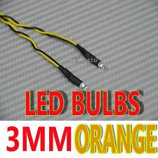 RC LED BULBS Pair On One Line 3mm ORANGE
