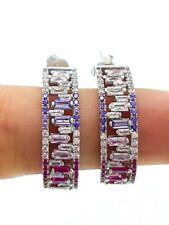 Trends Handmade Turkish Jewelry Ring Huggie Woman Hoop Earrings 925 Silver D1601