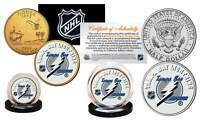 TAMPA BAY LIGHTNING 2-Coin Set JFK Half Dollar & Gold State Quarter NHL LICENSED