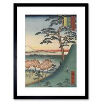"Japanese Art Woodblock Print Mount Fuji /""Nearby Omuro/"" TAKAHASHI SHOTEI"