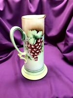 Tall Bavaria Porcelain hand-painted pitcher